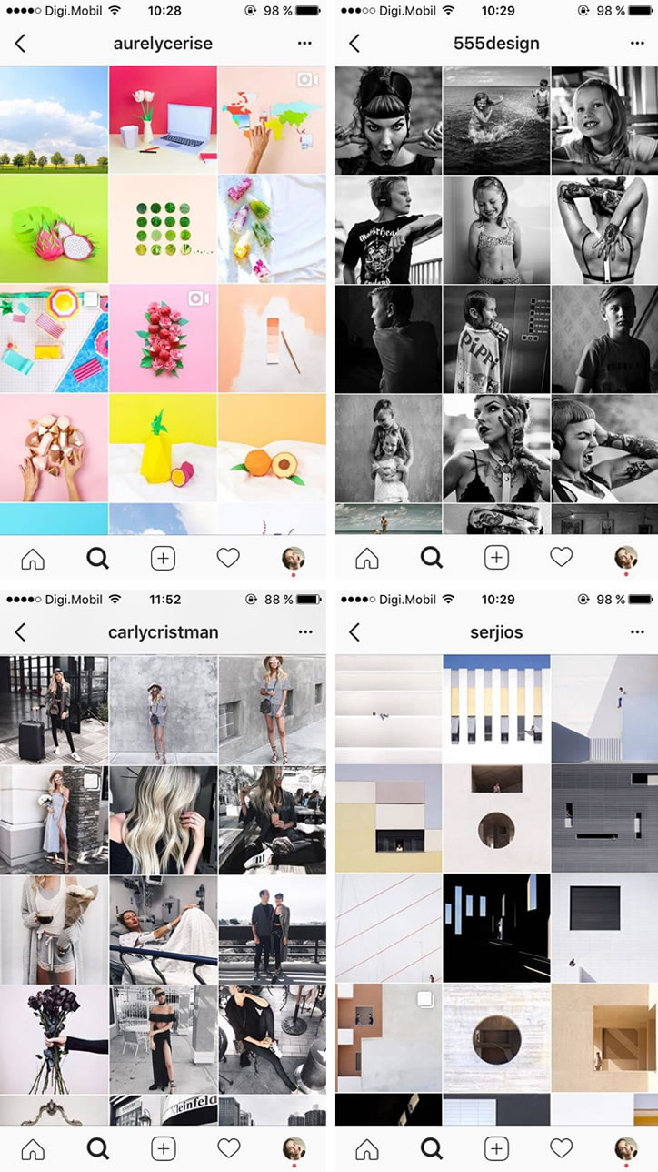 Ganhar Seguidores Instagram tipologia feed