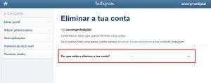 como excluir a conta de instagram 3