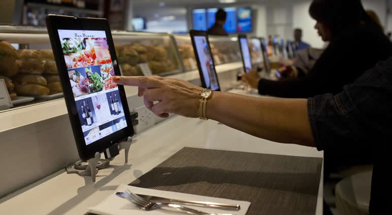 marketing digital acessibilidade ipad em restaurante