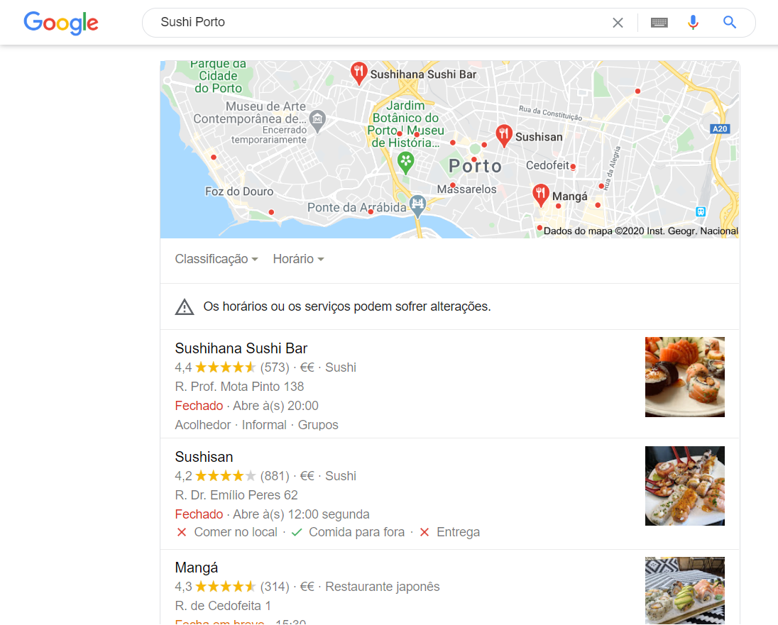 seo local sushi porto