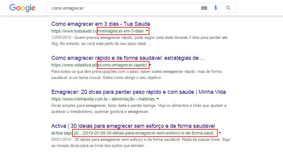 seo on page url amigável